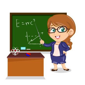 teacher showing an ecuation