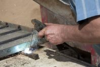 Welder using stick welder