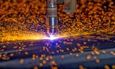 CNC Plasma torch cutting steelplate
